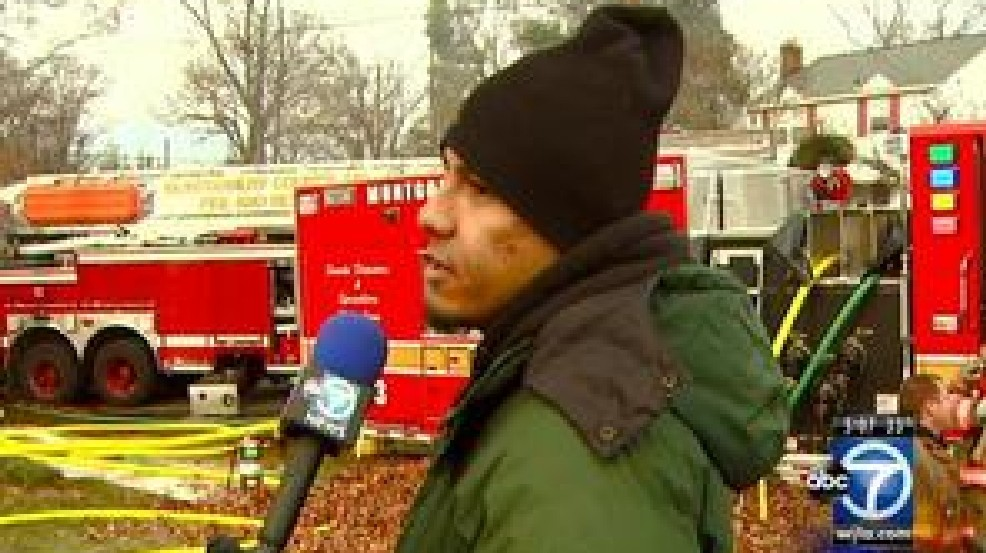 At house fire, man tells ABC 7 News crew: 'I set it on fire