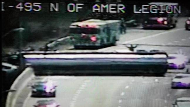 Overturned truck on Capital Beltway expected to be there through
