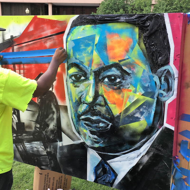Artists Are Creating At National Building Museum Murals Of Big Six Civil Rights Leaders Wjla