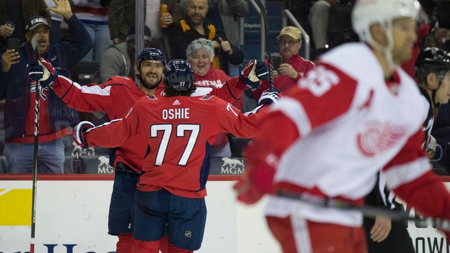 52660bd96de Alex Ovechkin s 21st hat trick helps Capitals to rout of Red Wings ...