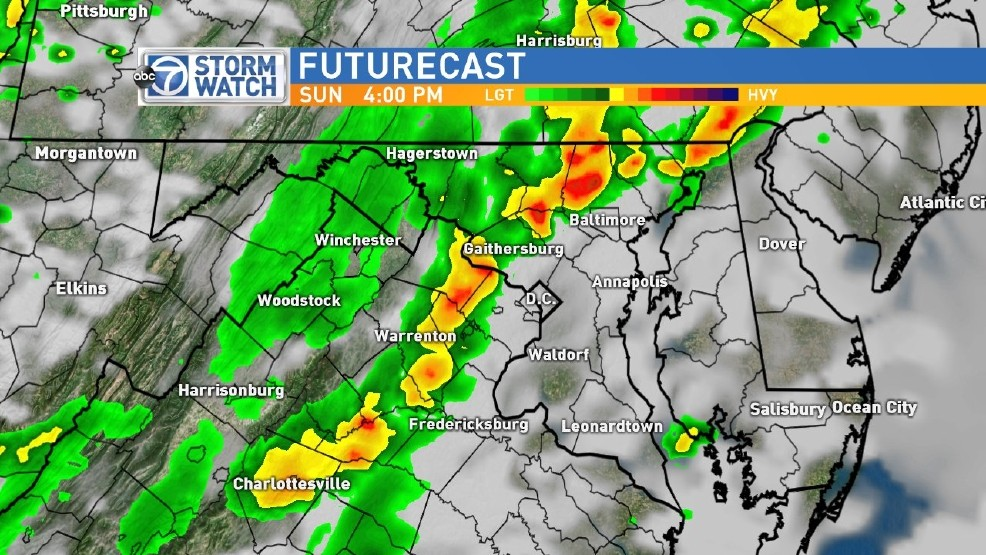 Mid Atlantic Weather Map.National Weather Service Warns Mid Atlantic Of Severe Storms Wjla