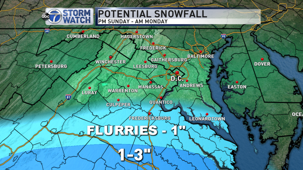 Still an outside chance for light snow south of DC Sunday as ... on snow precipitation map, snow richmond va, snow map united states, snow fall map, snow weather symbol, 24 hour snow map, california snow map, snow radar map, snow projection, snow totals map, snow weather map, new england snow map, snow accumulation, snow stars, snow facebook, snow predictions, snow estimate map, snow history by zip code, snow storm, snow in new england fall,