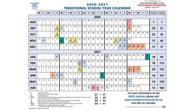 Photos of Mon County School Calendar 2021