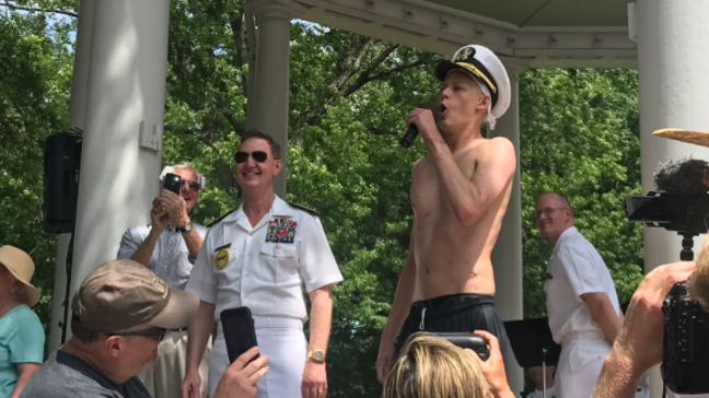 Naval Academy's Class of 2022 posts fastest Herndon Monument