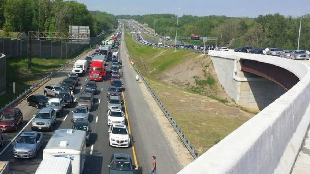 Greyhound Bus Fire Snarls Interstate 95 Southbound Traffic