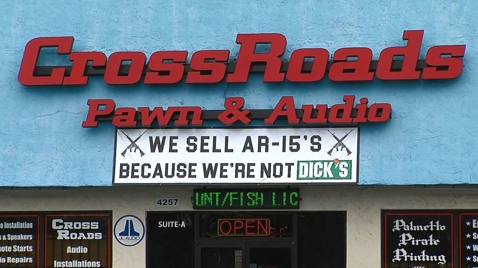 Gun Shop Sign Near Sc High School Has Some Concerned We Sell Ar