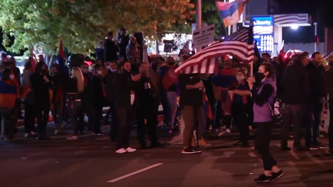 Protesters gather in Alexandria to support Armenia in conflict against  Azerbaijan | WJLA