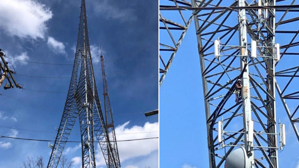 Man with hypothermia rescued after being stuck on radio tower in