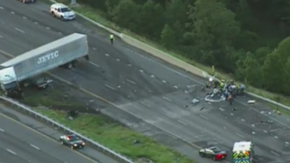 Tractor trailer crash causes vehicle fire, closes Route 100 | WJLA