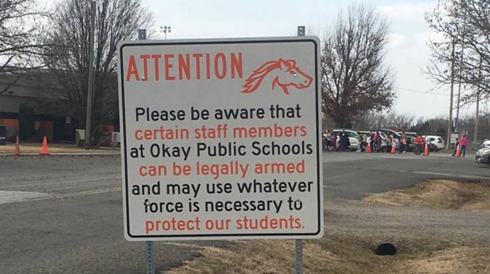 After Florida shooting, Oklahoma school district says armed