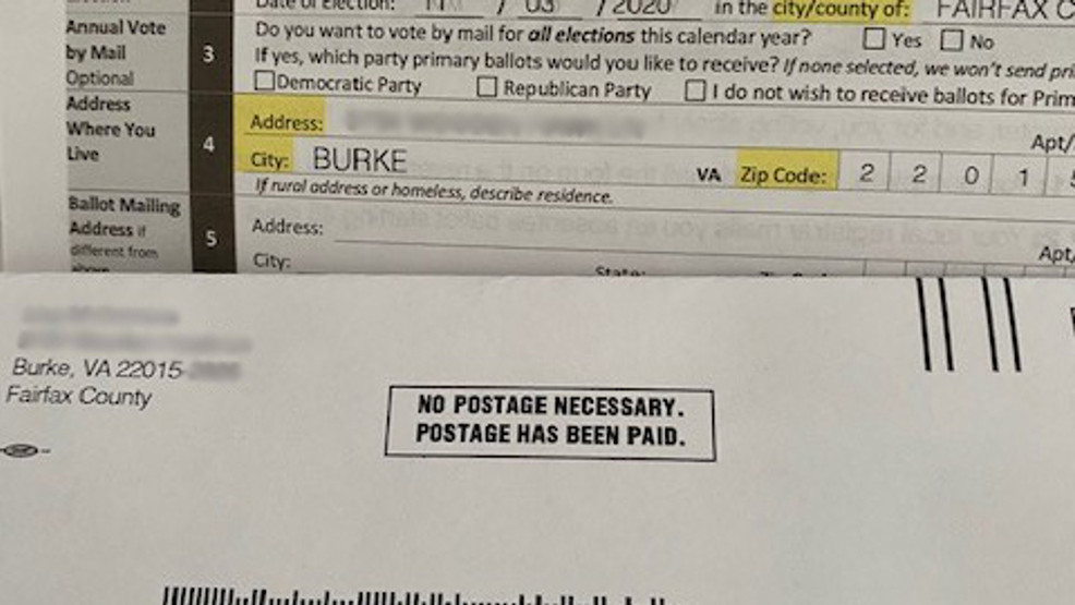 More Than 500 000 Virginia Voters Were Mailed Absentee Applications With Incorrect Info Wjla