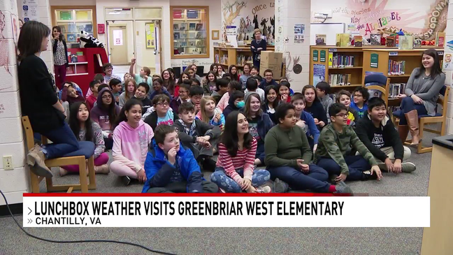 lunchbox weather at greenbriar west es in chantilly va wjla lunchbox weather at greenbriar west es