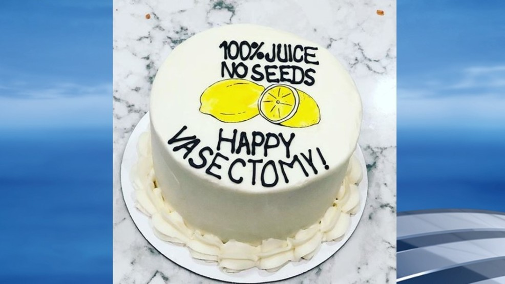 Super New Trend Nashville Bakery Creates Happy Vasectomy Cake Wjla Personalised Birthday Cards Epsylily Jamesorg