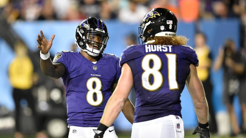 sale retailer 5b58c f73a6 Top draft pick Hayden Hurst finds home at TE with Ravens | WJLA