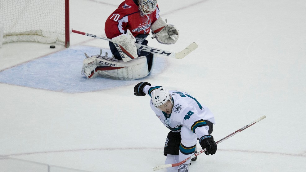 7508c594c2a Capitals drop 6th straight after Sharks tie it late