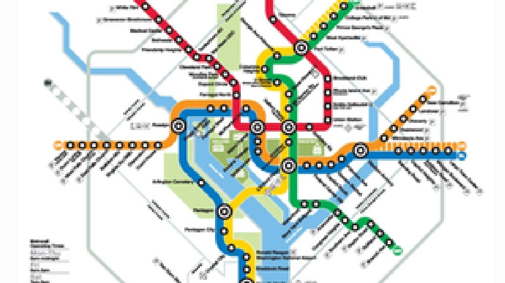 Dc Metro Map Yellow Line.D C Metro Changes Rush Plus Initiative Kicks Off June 18 Wjla